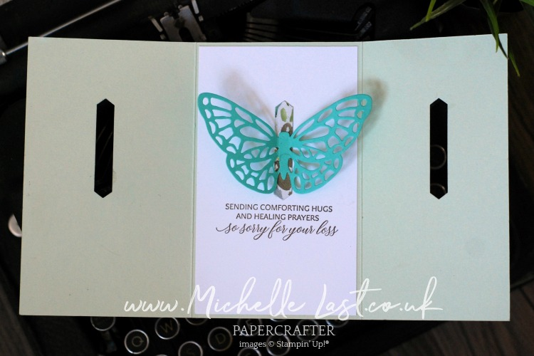 Springtime Impressions Butterfly Card