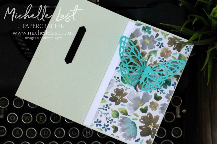 Springtime Impressions Butterfly Card tri-fold card
