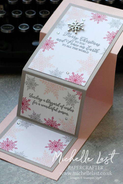 Double Z Fold Card using Snowflake Showcase