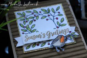 Christmas Robin Greeting Card