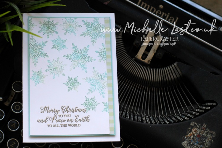 Snowflake Christmas Card by Michelle Last