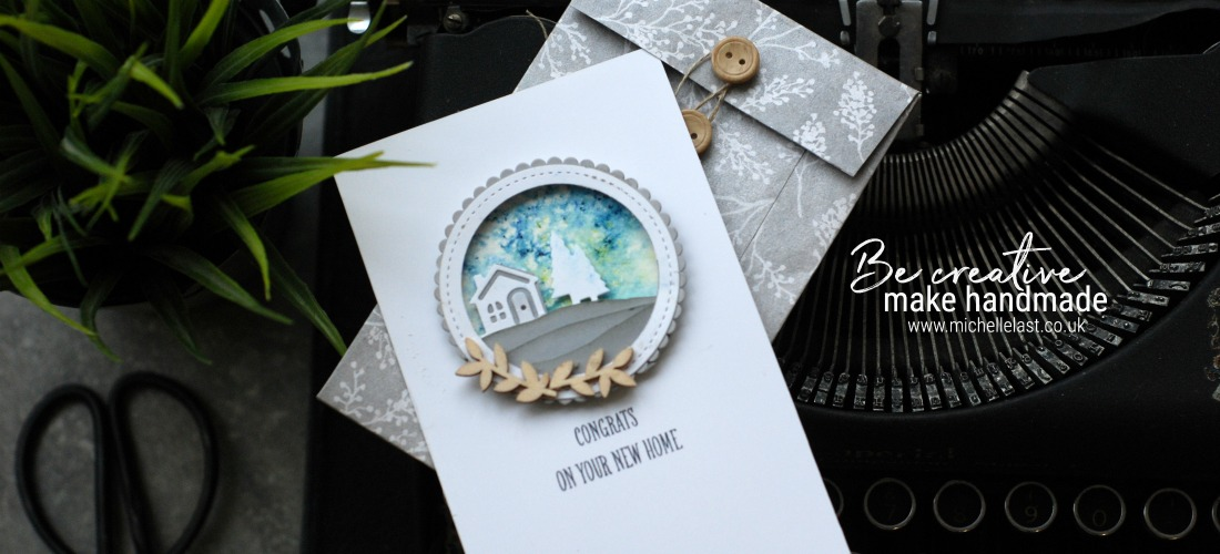 New home card made with Stampin' Up! products