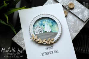 New Home Card made using Stampin Up products
