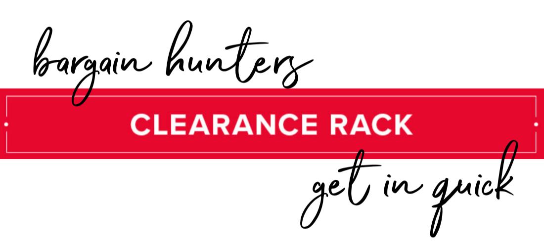 Clearance Rack blog banner