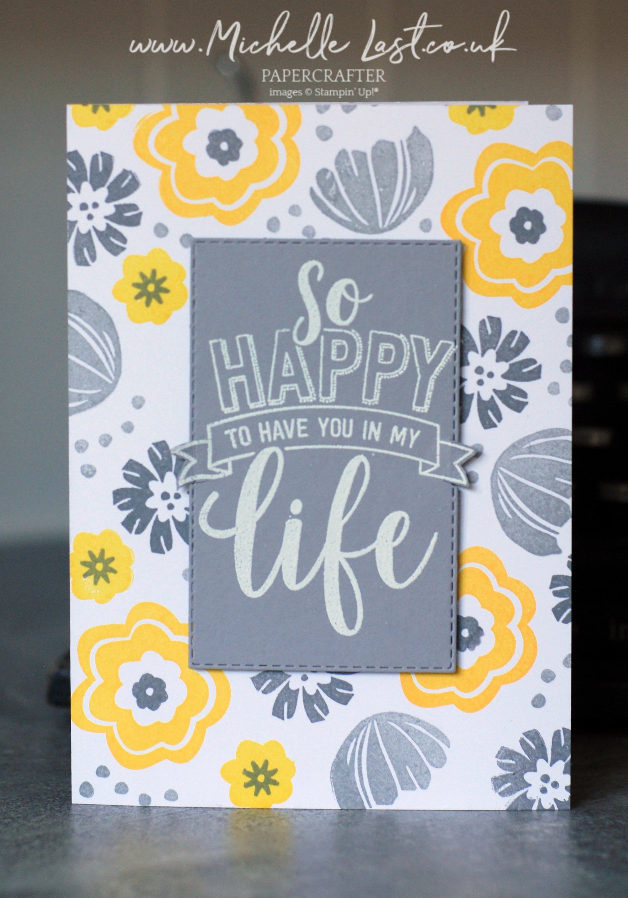 Handmade card using Stampin' Up!
