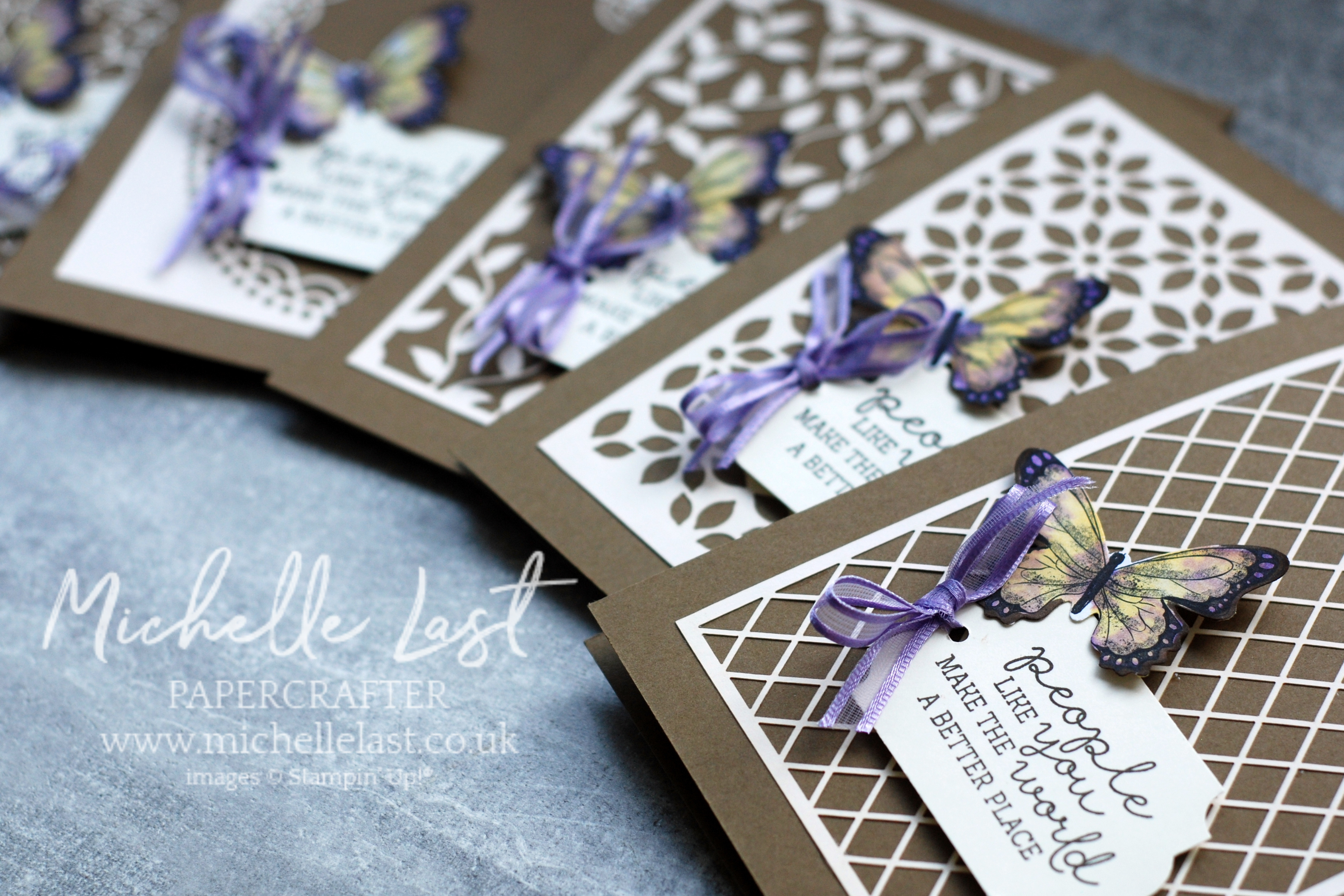 Thank you cards using Butterfly Gala