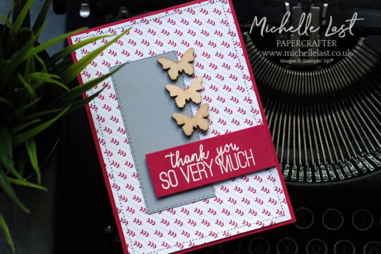 Wooden Butterfly Elements FREE from Stampin Up