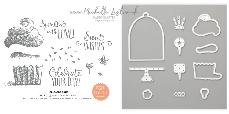 Hello Cupcake stamp set and dies