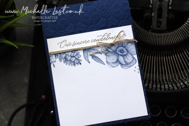 Condolence card using Painted Seasons