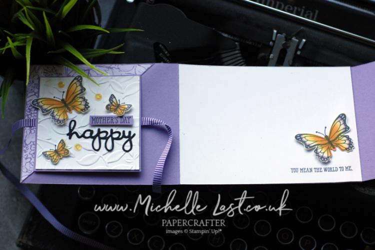 Fancy Fold Card using Butterfly Gala Bundle