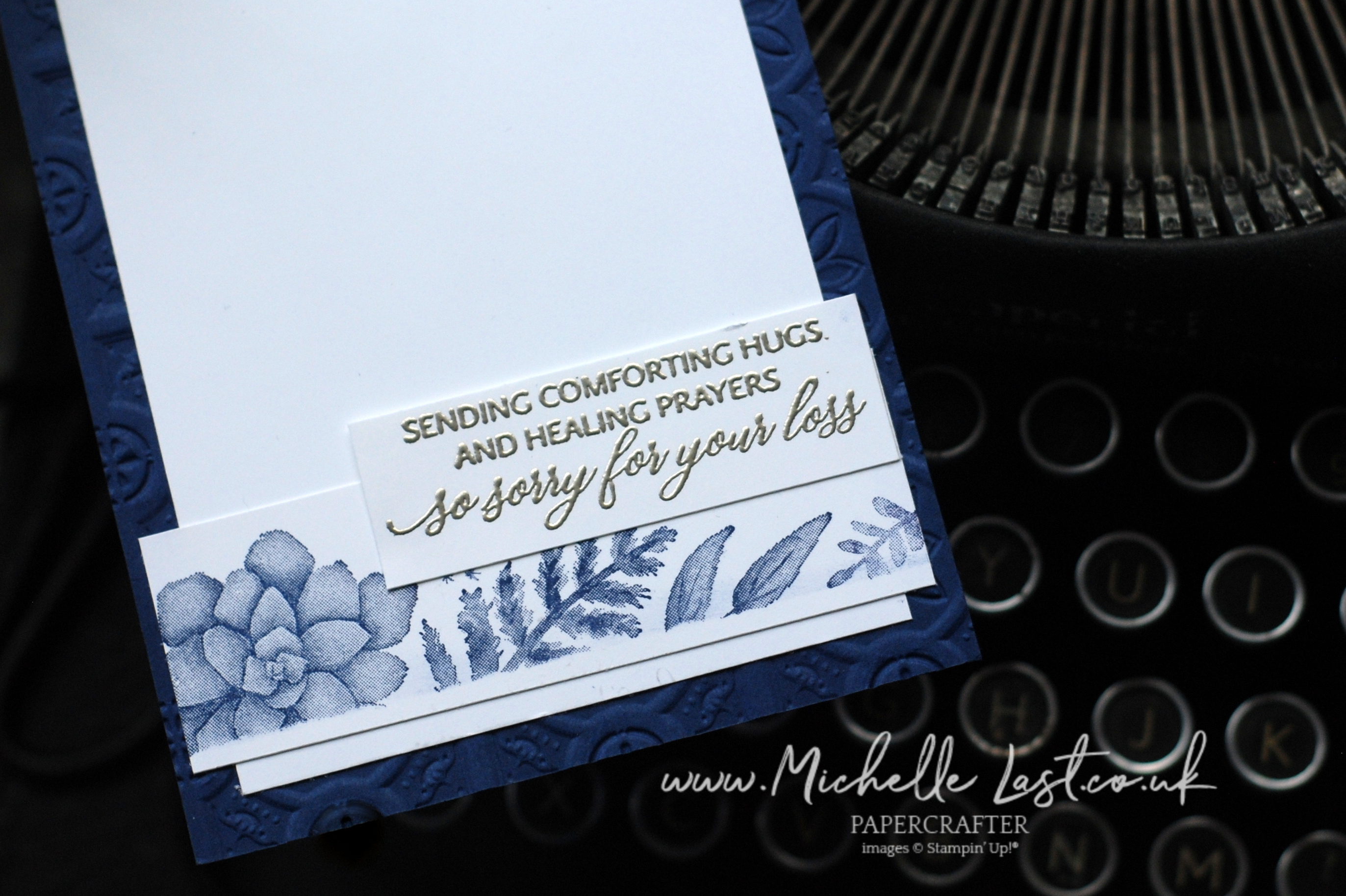 Condolence card using Stampin Up Supplies
