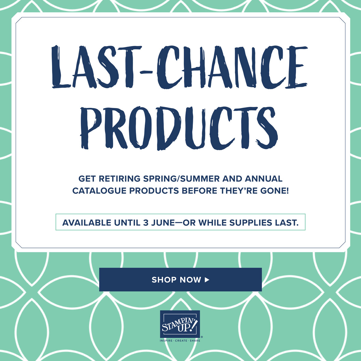 Stampin Up Last Chance List