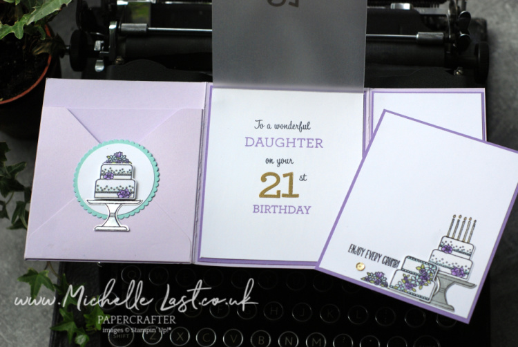 Piece of Cake 21st Birthday Card