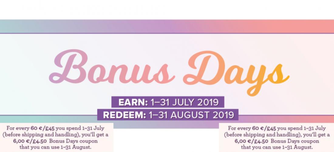 Bonus Days 2019