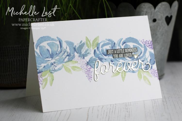 Beautiful friendship handmade floral card