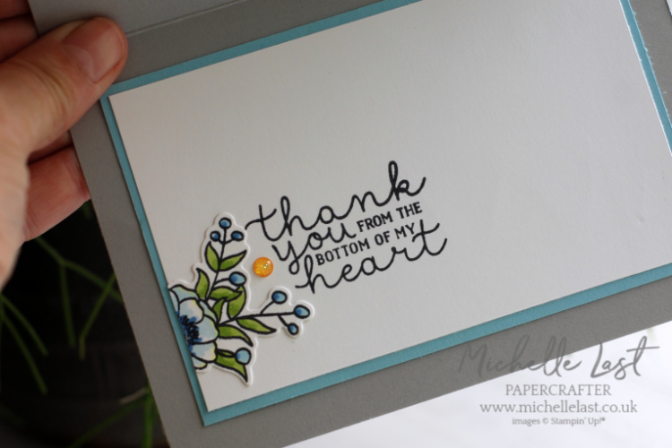 Coloured flower stamps from Stampin Up