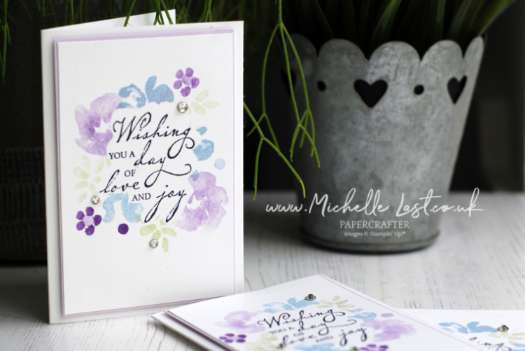 Inspiring Iris hand stamped card