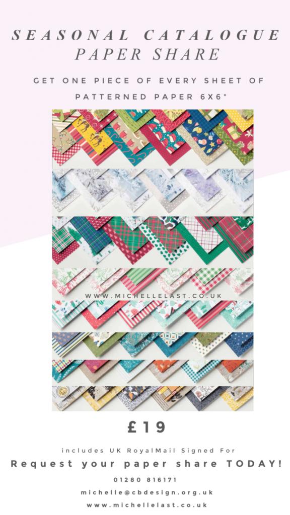Stampin Up Paper Share Seasonal Catalogue DSP