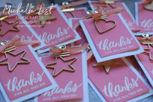 Handmade thank you stampin up michelle last