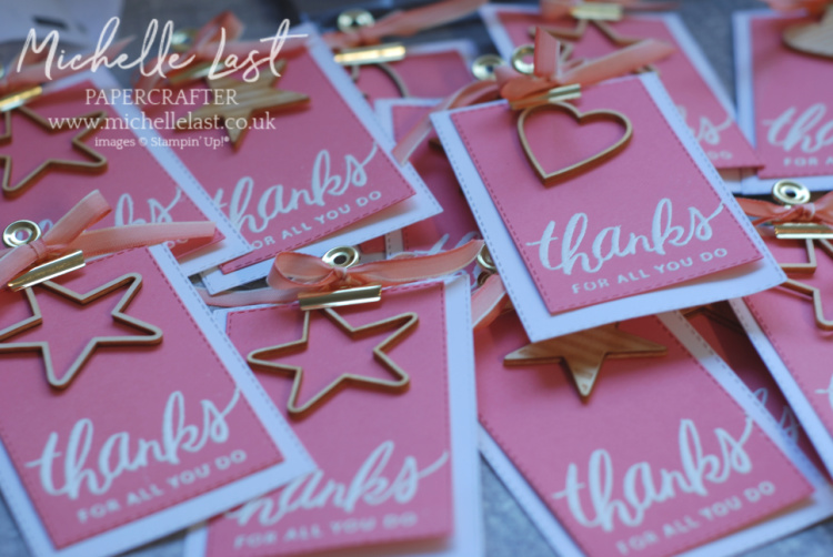 thank you tags michelle last stampin up