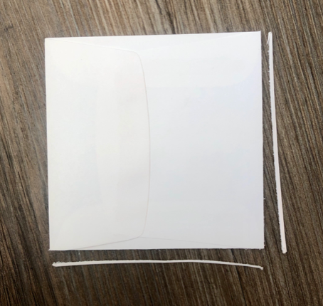 square envelope to make a bookmark