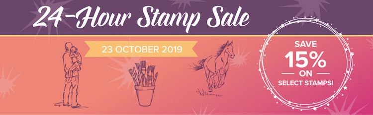 24 hour stamp sale 15% off select stamps