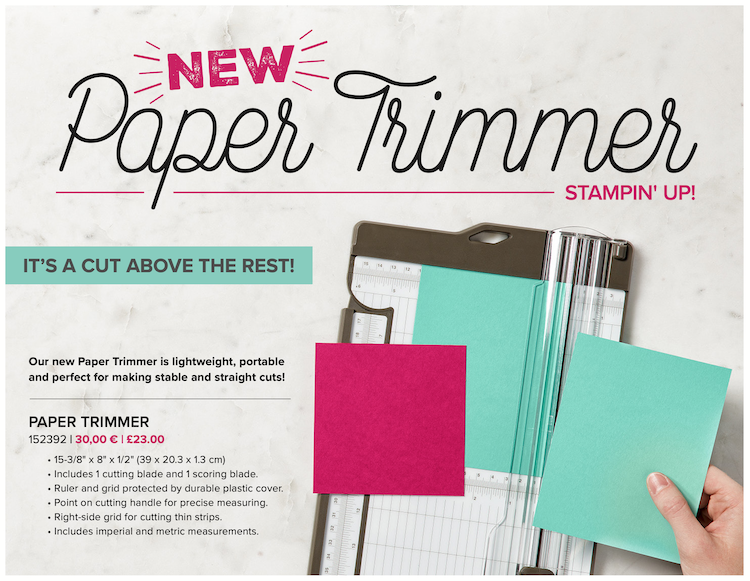Paper trimmer, stampin up, michelle last
