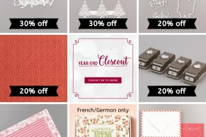 Stampin Up Year End Closeout December 2019