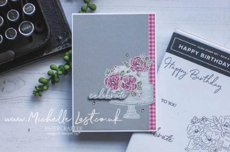 Happy Birthday Card made using Stamps from Stampin Up