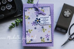 Pretty Flower Card made with Small Bloom Punch