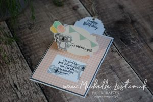 A pop up card made with a koala stamp