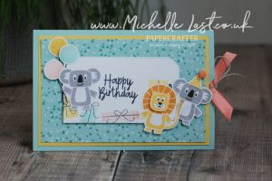 Sliding card made using Stampin Up Products