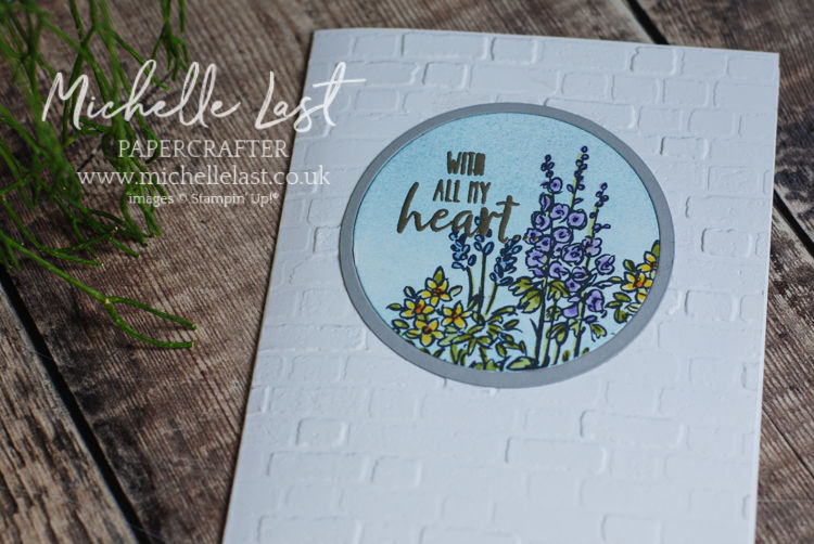 A garden themed hand made card