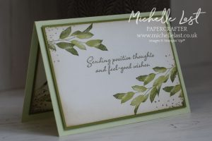Stamped leaves on a card