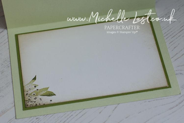 hand stamped leaf card