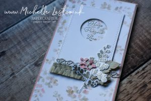 Card made with brand new coordinating dies from Stampin Up