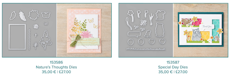New Coordinating dies available from Stampin Up