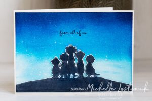 Handmade card with Meerkats on the front