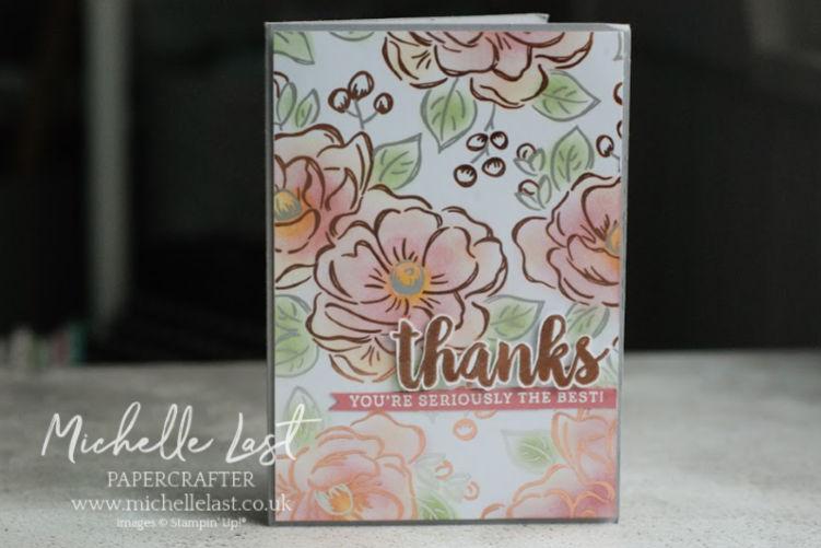 Handmade card with flowers