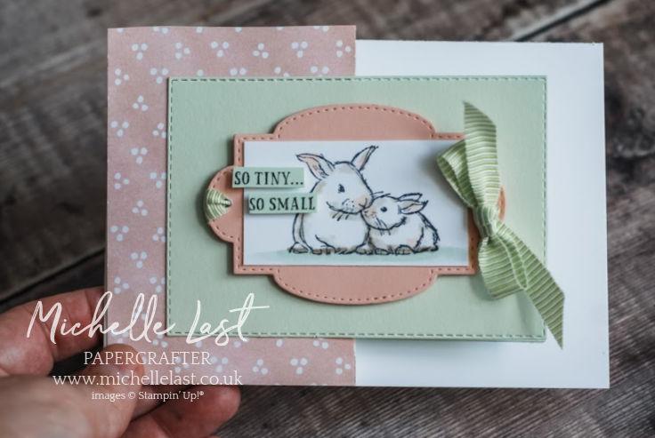 Handmade Baby Card using Stampin Up Supplies