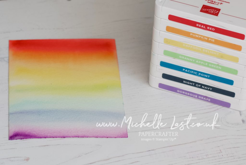 Rainbow watercolour background