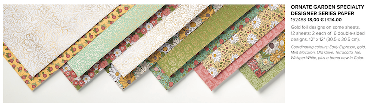 pretty patterned paper