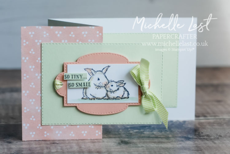 Baby card made using Wildly Happy stamp set