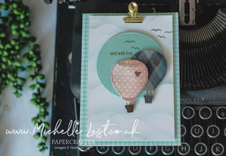 Hot Air Balloon Love card