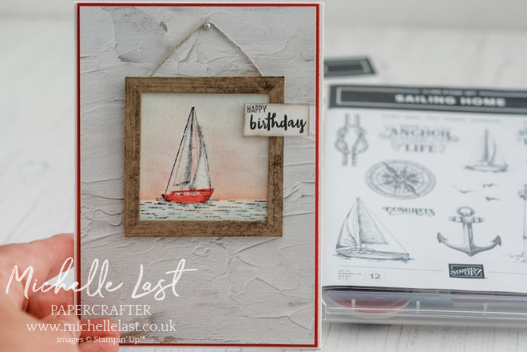 Boat in a picture frame watercolored