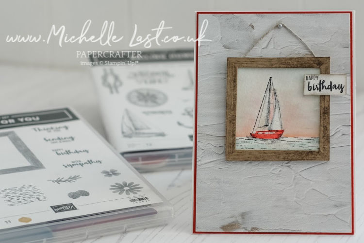 Masculine card containing a boat