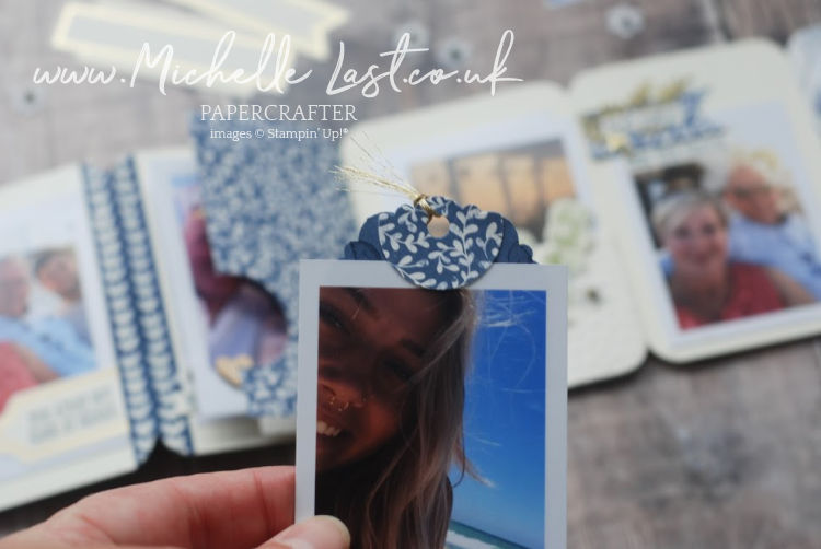 Stampin Up Tag Punch used for photos