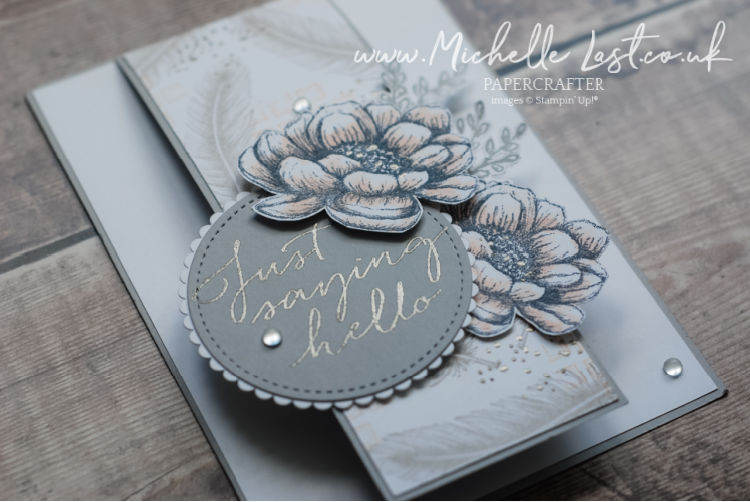 delicate handmade card with flowers