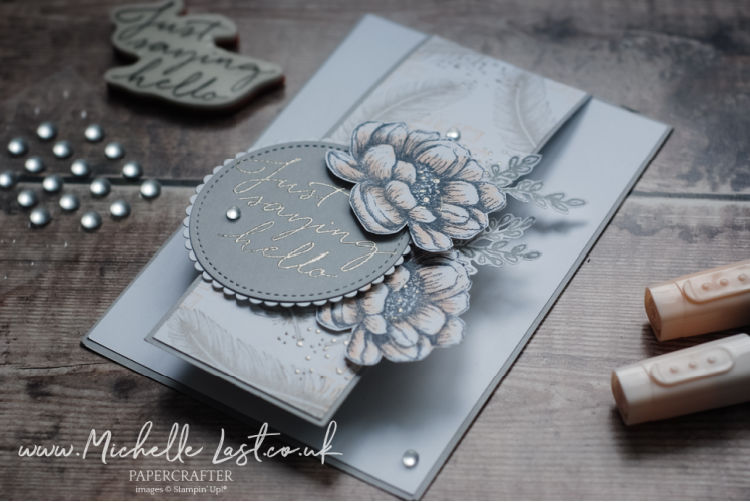 Delicate hand cut flowers on a card