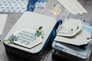 Handmade mini album created with Stampin Up products